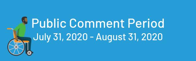 public comment period, july 31, 2020 through august 31, 2020