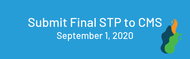 submit final stp to cms, september 1, 2020