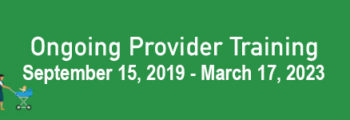 Ongoing Provider Training