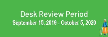Initial Desk Review Period